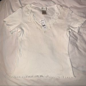 white Laura women's top